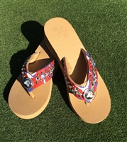 Custom USA #1 Hand-Made Leather Flip Flop with FREE Snap Button