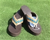 "Custom ""Bluegrass"" Hand-Made Leather Flip Flop"