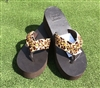 "Custom ""Here Kitty Kitty"" Hand-Made Leather Flip Flop"