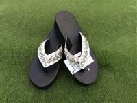 "Custom ""Winter White"" Hand-Made Leather Flip Flop"