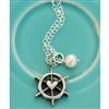 Vintage Ship Wheel Pendant