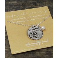 Enjoy the Journey Bicycle Pendant