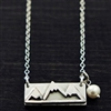 Adventure Awaits Mountains Pendant