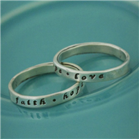 Faith, Hope, Love Ring