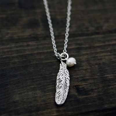 Feather of Refuge Psalm 91:4 Pendant