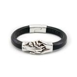 Hand and Paw-Leather Bracelet