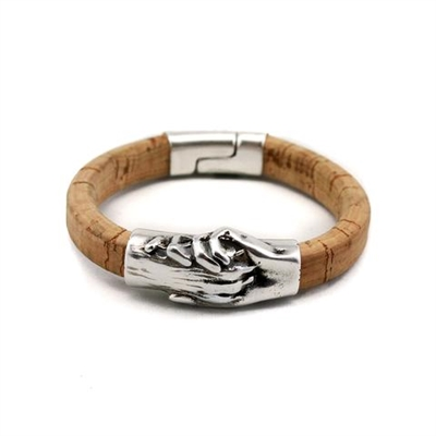 Hand and Paw-Cork Bracelet