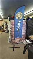 8' Rotary Feather Flag