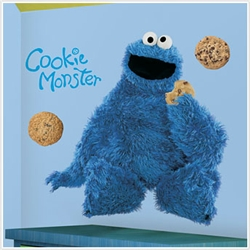 Cookie Monster Peel & Stick Giant Wall Decals