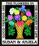 Black Friendship Flowers Personalized Print