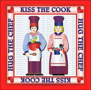 Kiss The Cook Personalized Print
