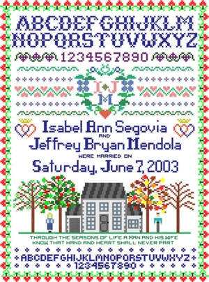 Wedding Sampler Personalized Print