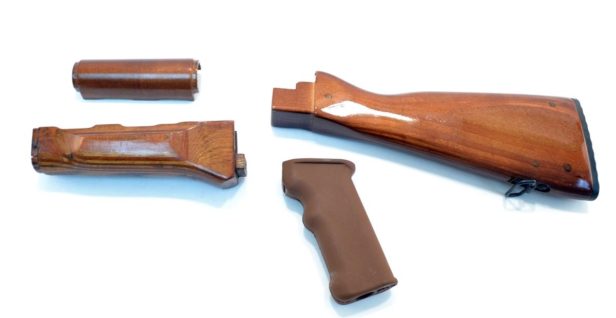 . AK 47 Laminated Wood Stock Set