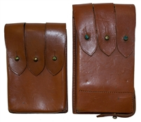 Leather Uzi Mag Pouch Combo