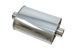 "Yonaka T304 Stainless Steel 2.5"" Performance Muffler"