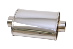 "Yonaka T304 Stainless Steel 3"" Performance Muffler"