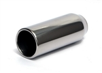 "Yonaka Stainless Steel 2.5"" Inlet / 3.5"" Outlet Straight Cut Rolled Exhaust Tip - 9"" Long"
