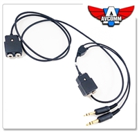 AVCOMM P2010 Headset Splitter--5ft