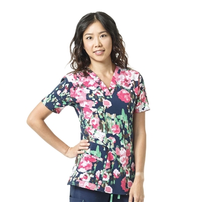 Carhartt Women's V-Neck Print Top in Botanic Beauty