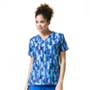 Carhartt Women's V-Neck Print Top in Painterly