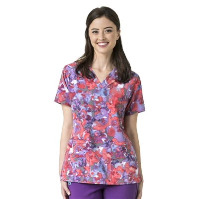 Carhartt Women's V-Neck Print Top in Southern Belle Pewter