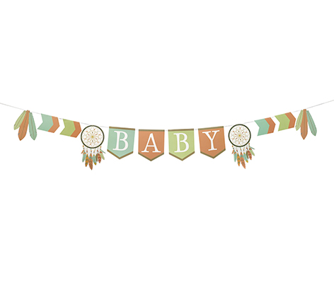 Tribal Baby Shower Bunting