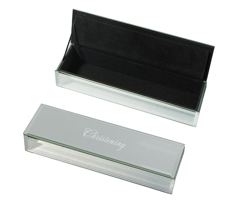 Silver Mirrored Keepsake Christening Box