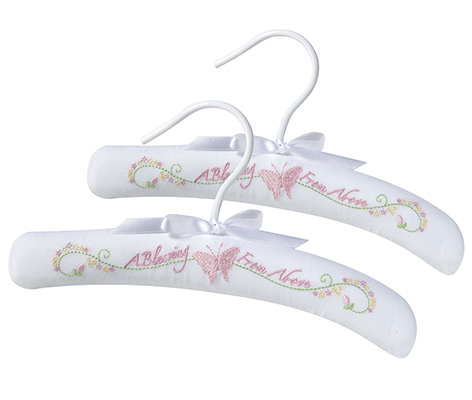 Baby Room Decor Clothing Hangers Pink Butterfly