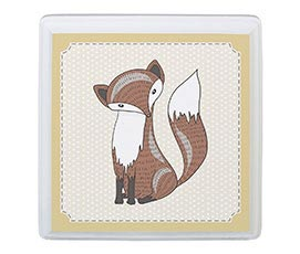 Baby Room Decor Sign Tan Fox Animal