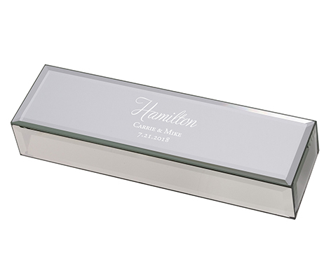 Silver Mirrored Script Monogram Certificate Box