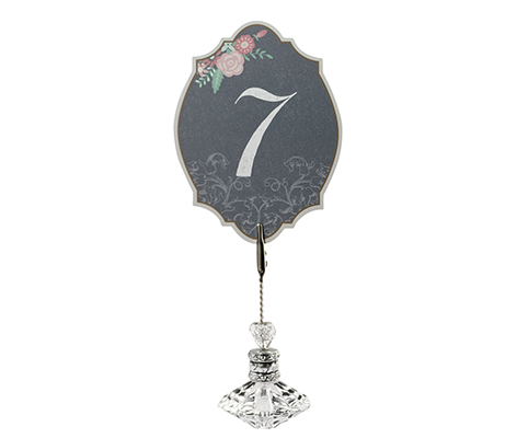 Vintage Chalkboard Table Numbers Black and Pink