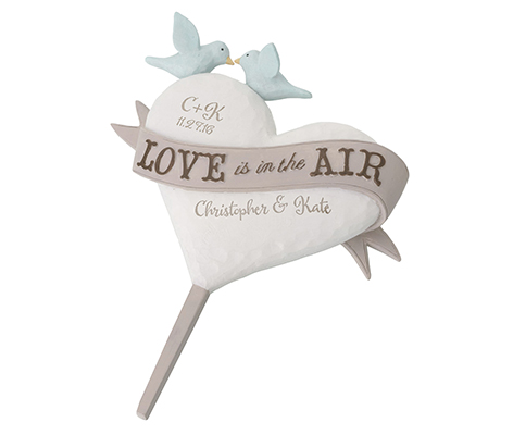 Personalized Love in the Air Wedding Cake Topper
