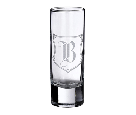 Personalized Monogram Initial Letter Shot Glass
