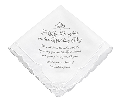 Daughter Verse Wedding Gift Keepsake Hankie
