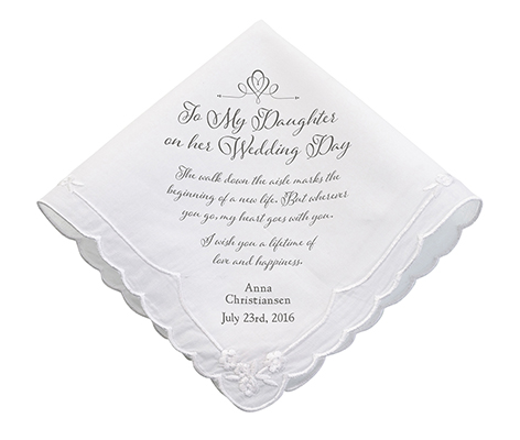Personalized Daughter Verse Wedding Hankie