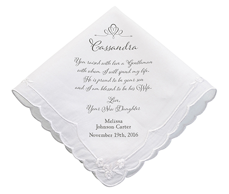 Personalized New Mom verse Wedding Gift Hankie