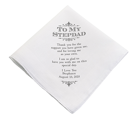 Personalized Stepdad Wedding Gift Keepsake Hankie