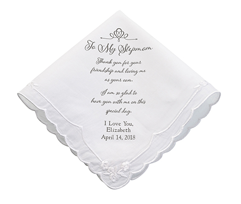 Personalized Stepmom Wedding Gift Keepsake Hankie