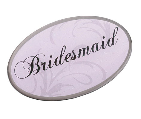 Pink Bridesmaid Pin Wedding Bridal Party Gift