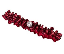 Sparkly Sequin Red Prom Wedding Garter