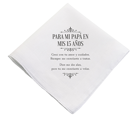 Quince Anos 15 Party Father Gift Hankie