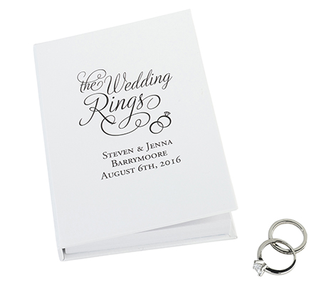 Ring Pillow Alternative Personalized Rings Book