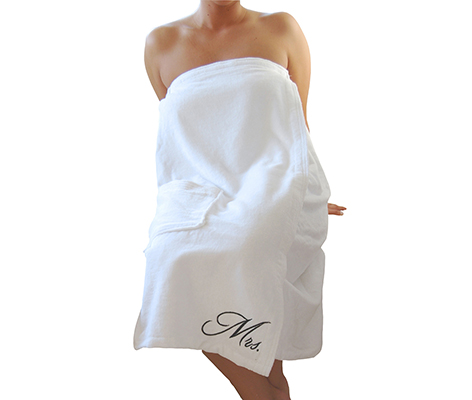 Mrs. Bride Wife Bath Wrap Towel