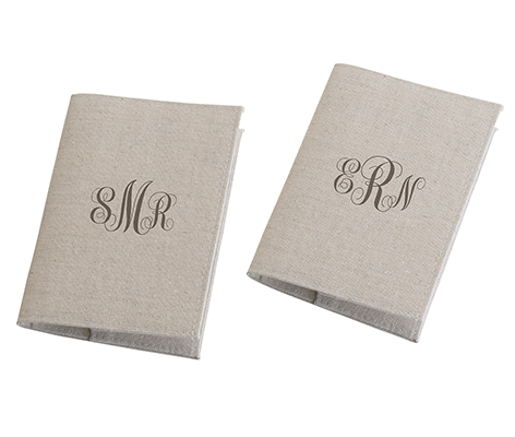 2 Personalized Tan Passport Covers Travel Wedding