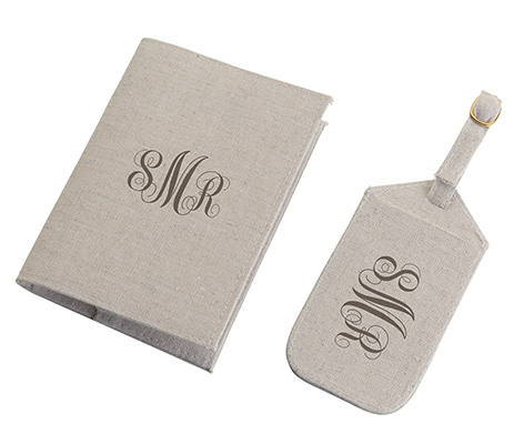 Matching Monogram Tan Luggage Tag Passport Cover