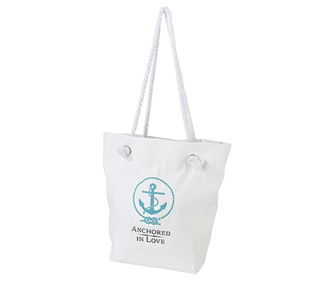 Coastal Beach Wedding Party Anchor Beach Tote Bag