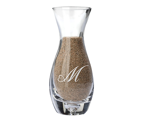 Wedding Ceremony Unity Sand Side Vase Monogram