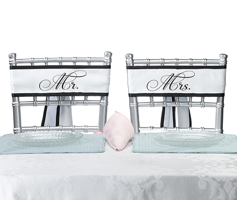 Mr. and Mrs. Wedding Chair Decor Sashes