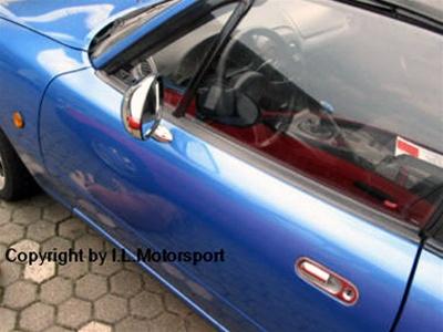 Miata Mirrors Chrome Chrome Mirror Set For