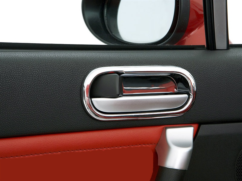 Chrome door handle cups by il motorsport mazda miata mx 5 for 2010 mazda 3 interior door handle